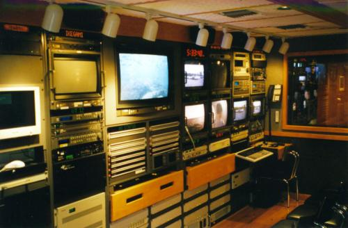 [DTV express truck studio racks.]